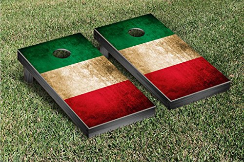 Italy Flag Vintage Cornhole Game Set by Victory Tailgate
