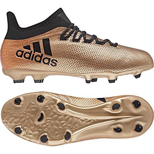 adidas Kinder X 17.1 Fg J Fußballschuhe Gold (Tagome/Cblack/Solred)