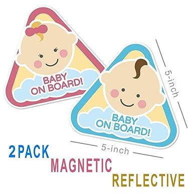 Amazon.com: Cartel magnético y reflectante para coche para ...