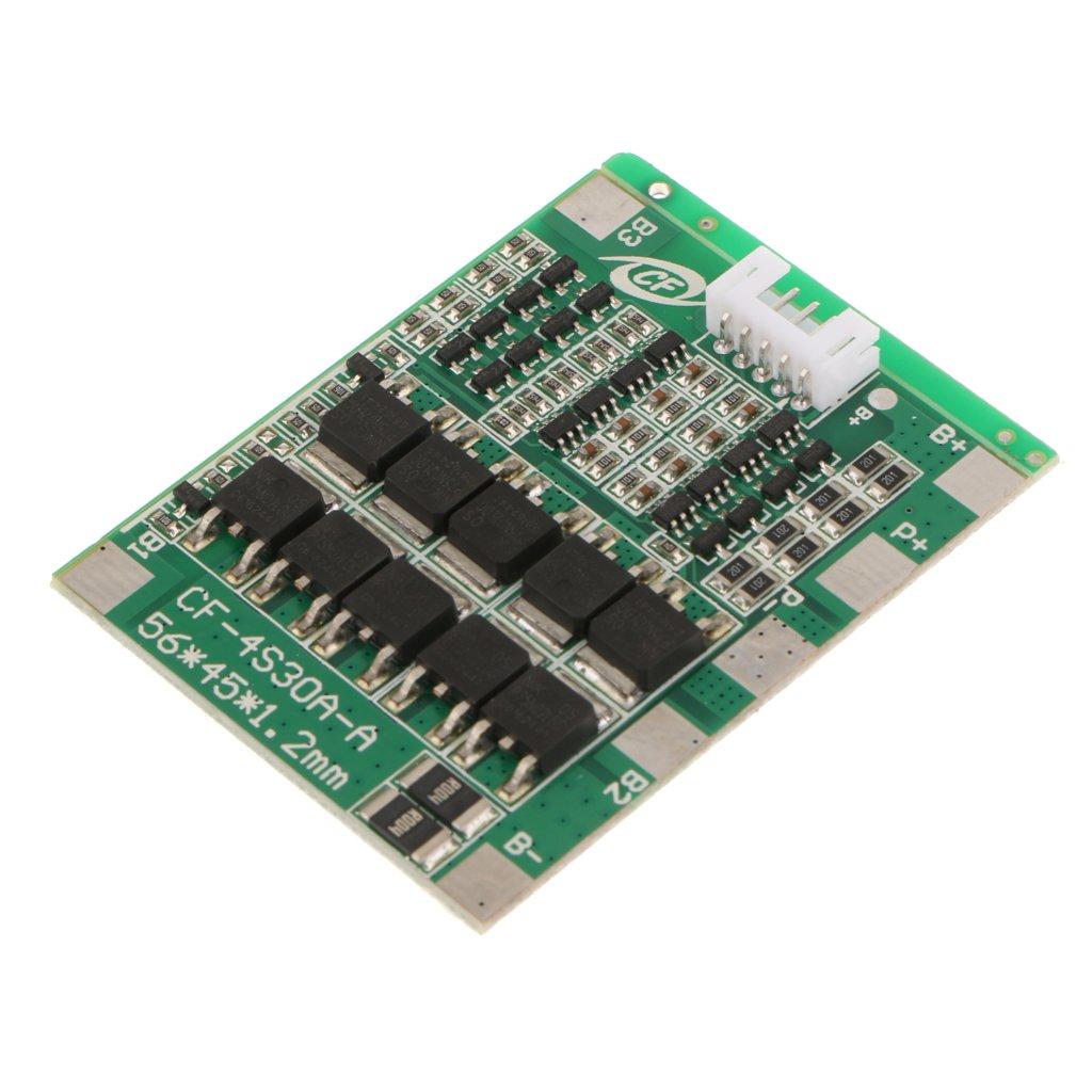 Sharplace Cubierta para Bater/ía de 4S 30A Li-Ion BMS con Cable Seguridad Protecci/ón