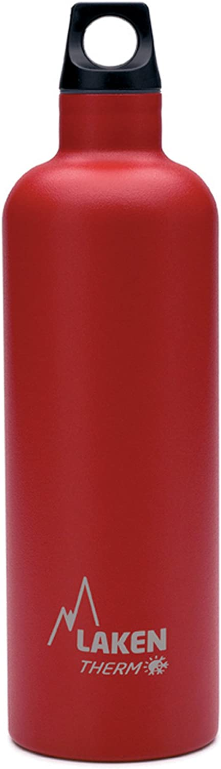 Laken Futura Botella Térmica Acero Inoxidable 18/8 y Doble Pared de Vacío, Unisex adulto, Rojo, 750 ml