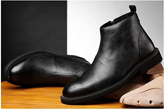 Mens Casual Dress Boots Ankle Shoes