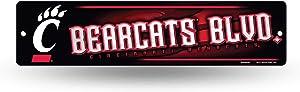 NCAA Rico Industries16-Inch Plastic Street Sign Décor, Cincinnati Bearcats