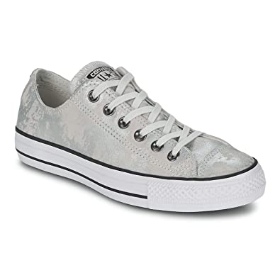 00730f89b2e8 Converse Womens Chuck Taylor All Star Hardware Silver White Low top  Trainers 8