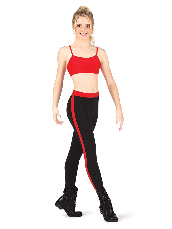 c0eb1d16ecd Dance Department Adult Side Stripe Leggings D3003 at Amazon Women s  Clothing store
