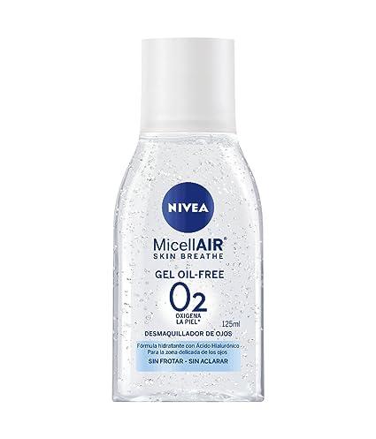 NIVEA MicellAir, gel micelar, desmaquillador de ojos oil-free con ácido hialurónico,