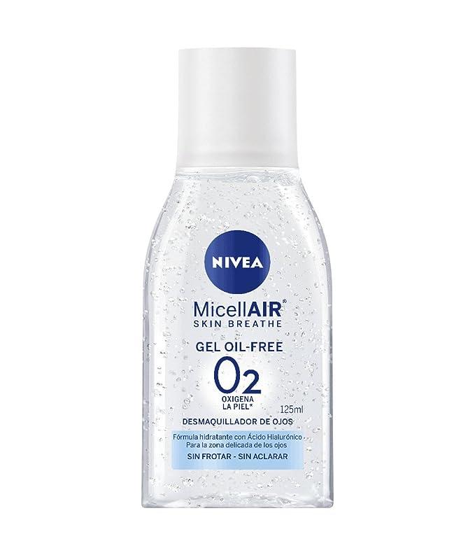 NIVEA MicellAir, gel micelar, desmaquillador de ojos oil-free con ácido hialurónico, limpieza facial sin frotar, sin aclarar y sin dejar residuos, ...