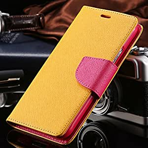 Luxury Wallet Stand Flip Case for Samsung Galaxy S3 SIII I9300 Colorful Leather Phone Accessories Logo Cover Bags Cute Custom S3 --- Color:Yellow