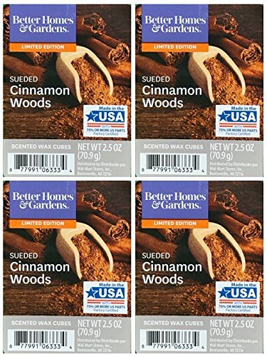 Better Homes and Gardens Sueded Cinnamon Woods Scented Wax Cubes - 4-Pack