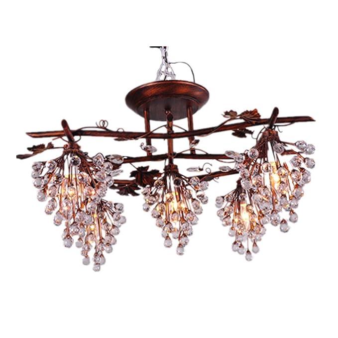 Hierro forjado lámparas de araña lámpara de iluminación ...