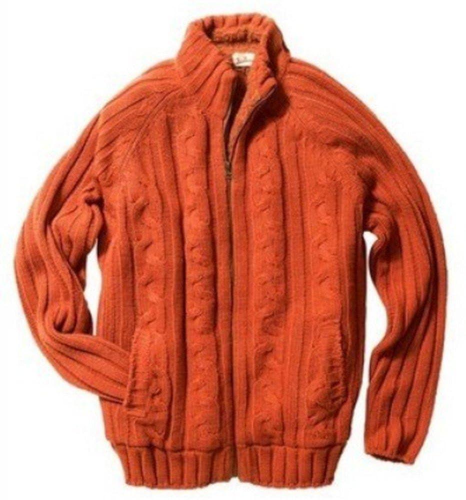 Joe Browns Strickjacke mit Futter für den Herren in Orange
