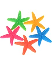 Dabixx 5 Piezas Artificial Estrella de Mar Decoración del Tanque de Peces Acuario Colorido Adornos Resina