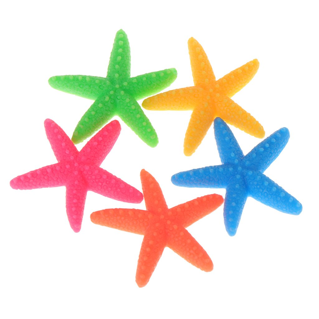 Kalttoy - 5 Adornos de Resina para Acuario, diseño de Estrella de mar: Amazon.es: Productos para mascotas