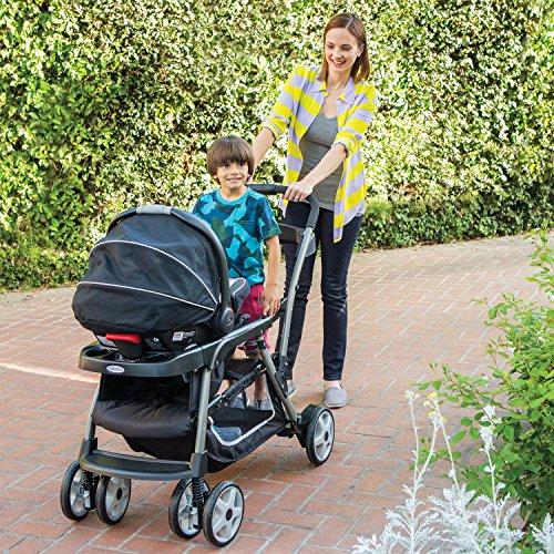 61hrPu9akuL - Graco Ready2Grow LX Double Stroller | Lightweight Double Stroller, Gotham