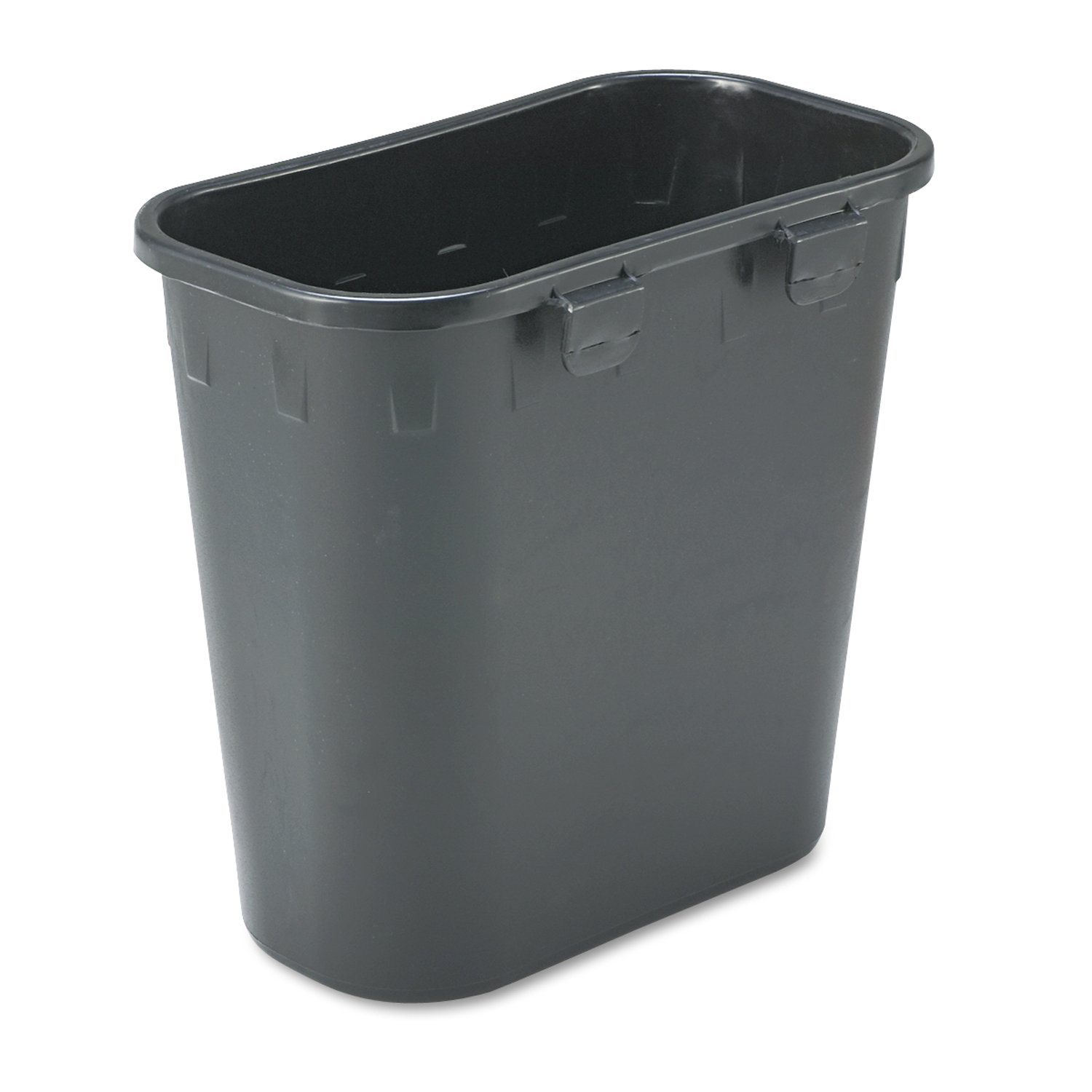 Safco Products 2944BL Paper Pitch Recycling Trash Can, Black