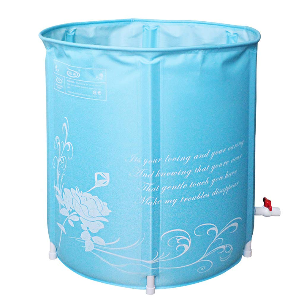Mingteng Bañera Bañera Plegable Barril Baño Infantil Barril de baño para Adultos Baño doméstico Barril de Cuerpo Completo Redondo (Color : 2)