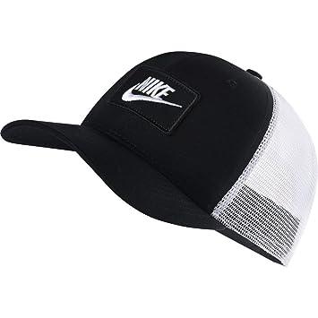 Nike CLAS sic99Trucker Gorra, Unisex Adulto, AQ9879-010, Blanco/Negro, Talla única
