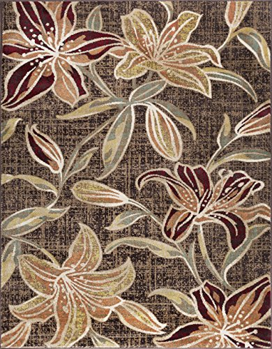 Universal Rugs DCO1108 8x10 Lily Area Rug, 8' x 10', ()
