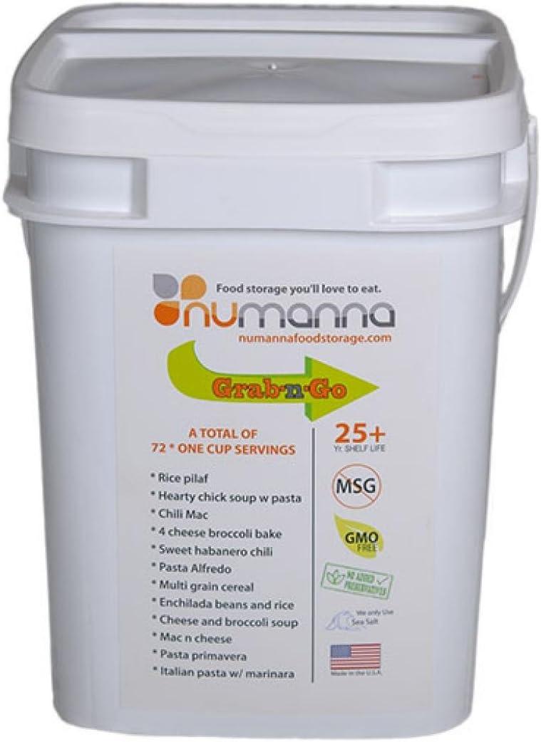Numanna Gmo-free Food Storage One Month Grab 'N Go | 76 Servings