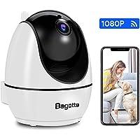 Bagotte WiFi 1080P Cámara IP Vigilancia Interior, 360°