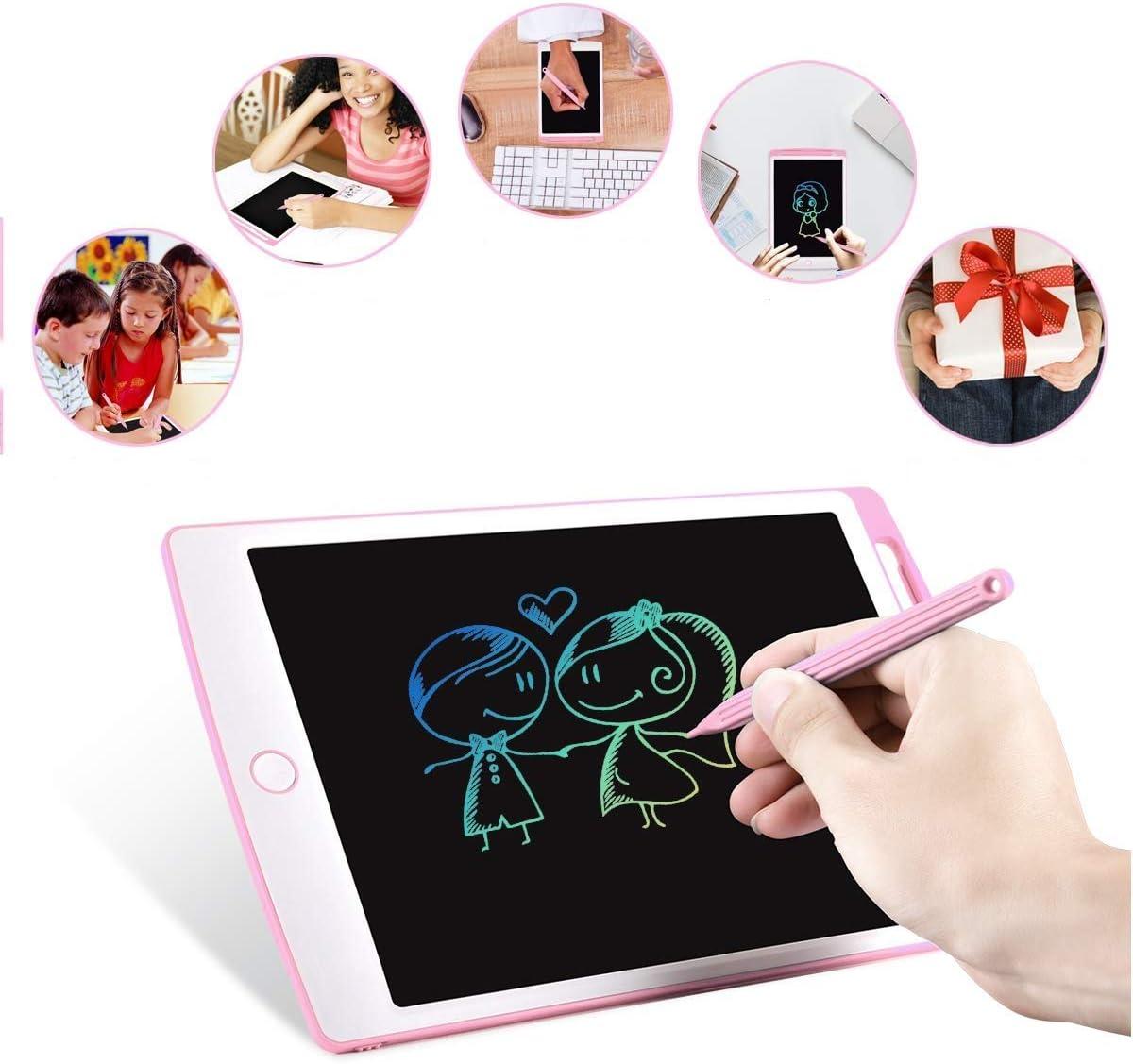 NOBES LCD farbig Schreibtablet Geeignet f/ür Zuhause Grafiktablet tragbar zum Schreiben und Zeichnen ohne Papier Schule und B/üro elektronische Memo rot rot Color/é 9.7 pouces