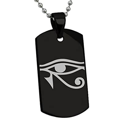 Amazon.com: Acero inoxidable Ojo de Horus egipcio Símbolo ...