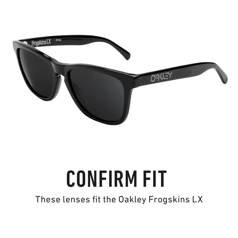 5c493f1fa8 Amazon.com  Revant Polarized Replacement Lenses for Oakley Frogskins LX  Elite Black Chrome MirrorShield  Sports   Outdoors