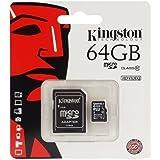 Cartão de Memória Kingston 64GB MicroSDHC com Adaptador SD (classe 10)