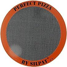 "Silpat AH305-01 Perfect Pizza Mat Silicone Baking, 12"", Orange"