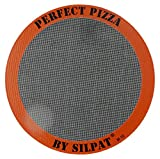 Silpat Perfect Pizza Mat Silicone Baking, 12'', Orange