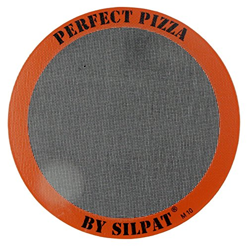 Silpat Perfect Pizza Mat Silicone Baking, 12'', Orange by Silpat