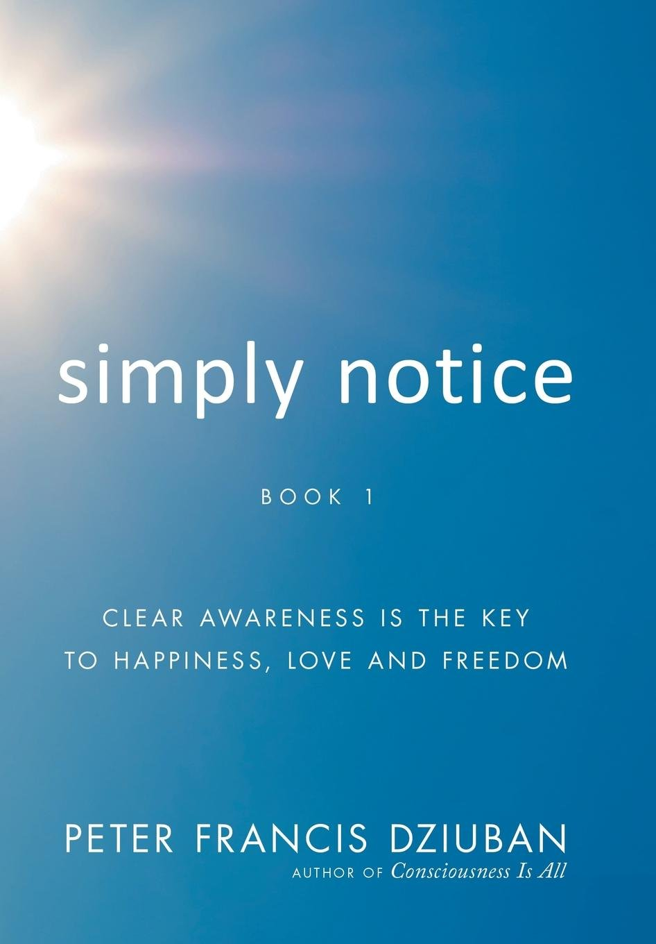 Read Online Simply Notice: Clear Awareness Is the Key to Happiness, Love and Freedom ebook