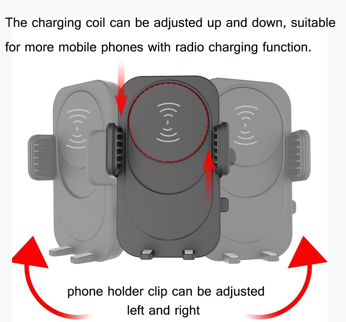 iPhone X MAOBLOG Wireless Car Charger Mount,Dashboard /& Windshield Adjustable One-Touch Long Arm Car Holder 10W Charge for Samsung Galaxy S8 S7//S7 Edge Note 8 5 8//8 Plus,7//7Plus Qi Enabled Devices 4351630064