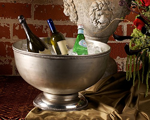 Vagabond House Pewter Medici Bead Ice Tub/Punch Bowl 18.5'' Wide x 11'' Tall by Vagabond House (Image #1)