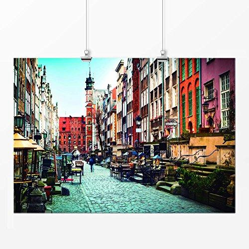Pôster - Cidade vilarejo colorido 42x59cm