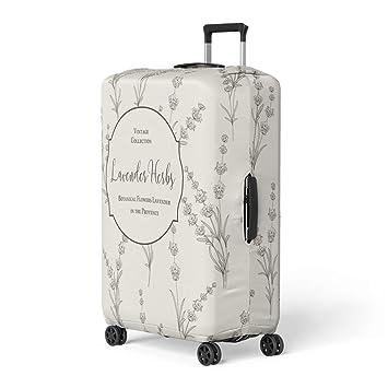 cd0e5b70a4d7 Amazon.com: Pinbeam Luggage Cover the Floral Botanical Lavender ...