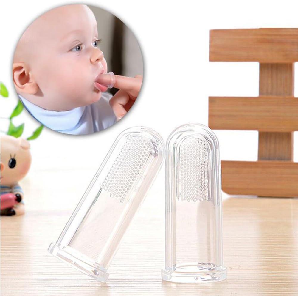 Deyan Baby Finger Zahnb/ürste Silikon Finger Zahnb/ürste Weichmassageger/ät Neugeborene Mundpflege Zahnb/ürste f/ür Kleinkinder Kleinkinder