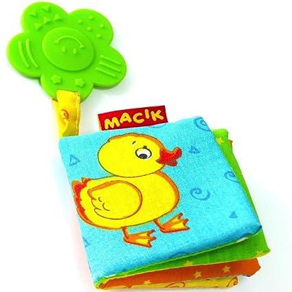 Amazon Com Macik Baby Activity Book And Teething Toys Infant