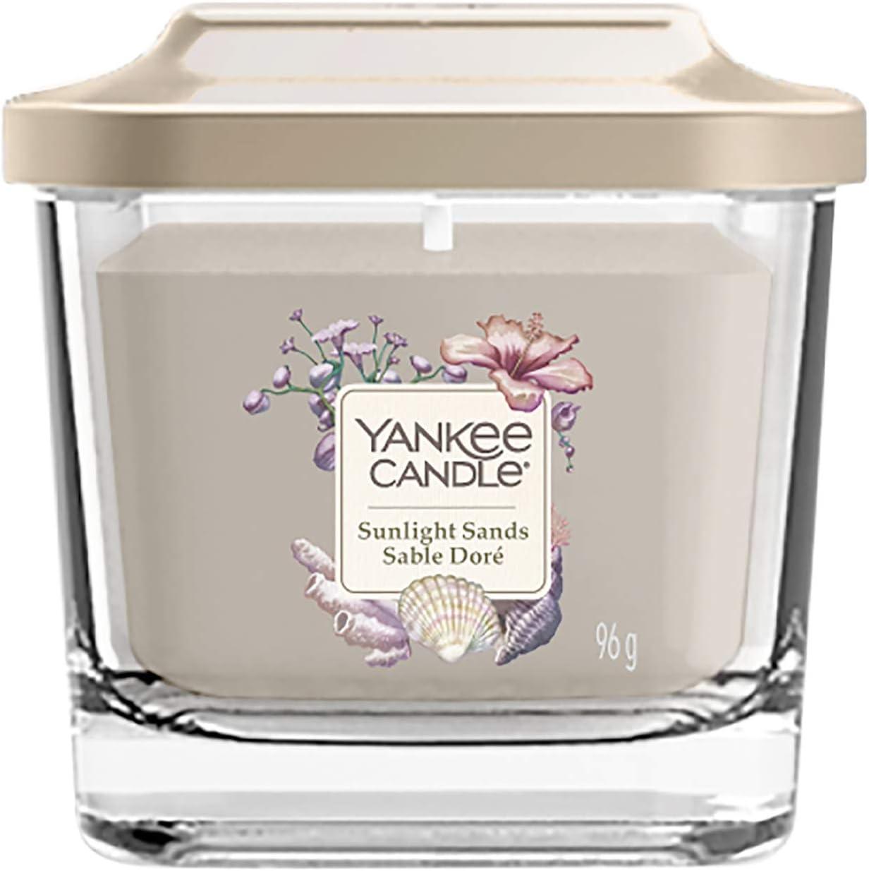 Yankee Candle petite bougie parfum/ée carr/ée /à trois m/èches et couvercle senteur Verger d/'agrumes collection /Él/évation