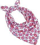 Coolibar UPF 50+ Girl's Aqua Bandana - Sun Protective (One Size- Pink/White Watercolor Floral)
