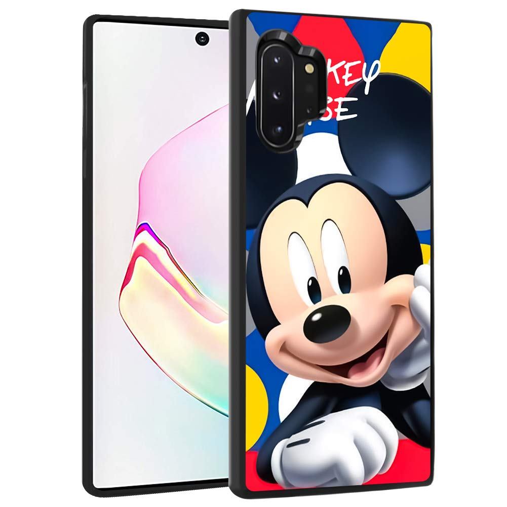 DISNEY COLLECTION Case for Samsung Galaxy Note 10 Plus Galaxy Note 10+ 5G [6.8 Inch] TPU+PC Smile Mickey Mouse Cartoon Cute Slip Shock Proof Protective Galaxy Note 10 Plus Cover