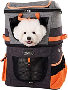 Double Compartment Pet Carrier Travel Backpack