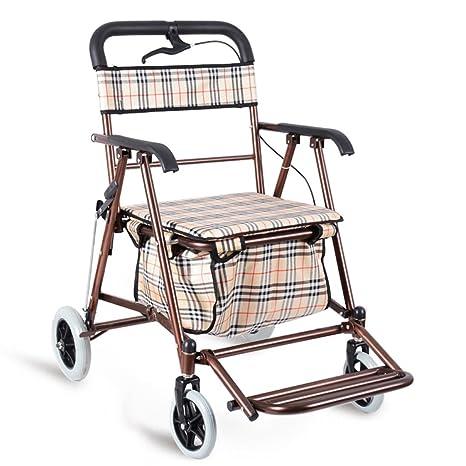 Remolque plegable/carrito puede sentarse/portátil cuadrado carrito de cuatro ruedas/carrito de