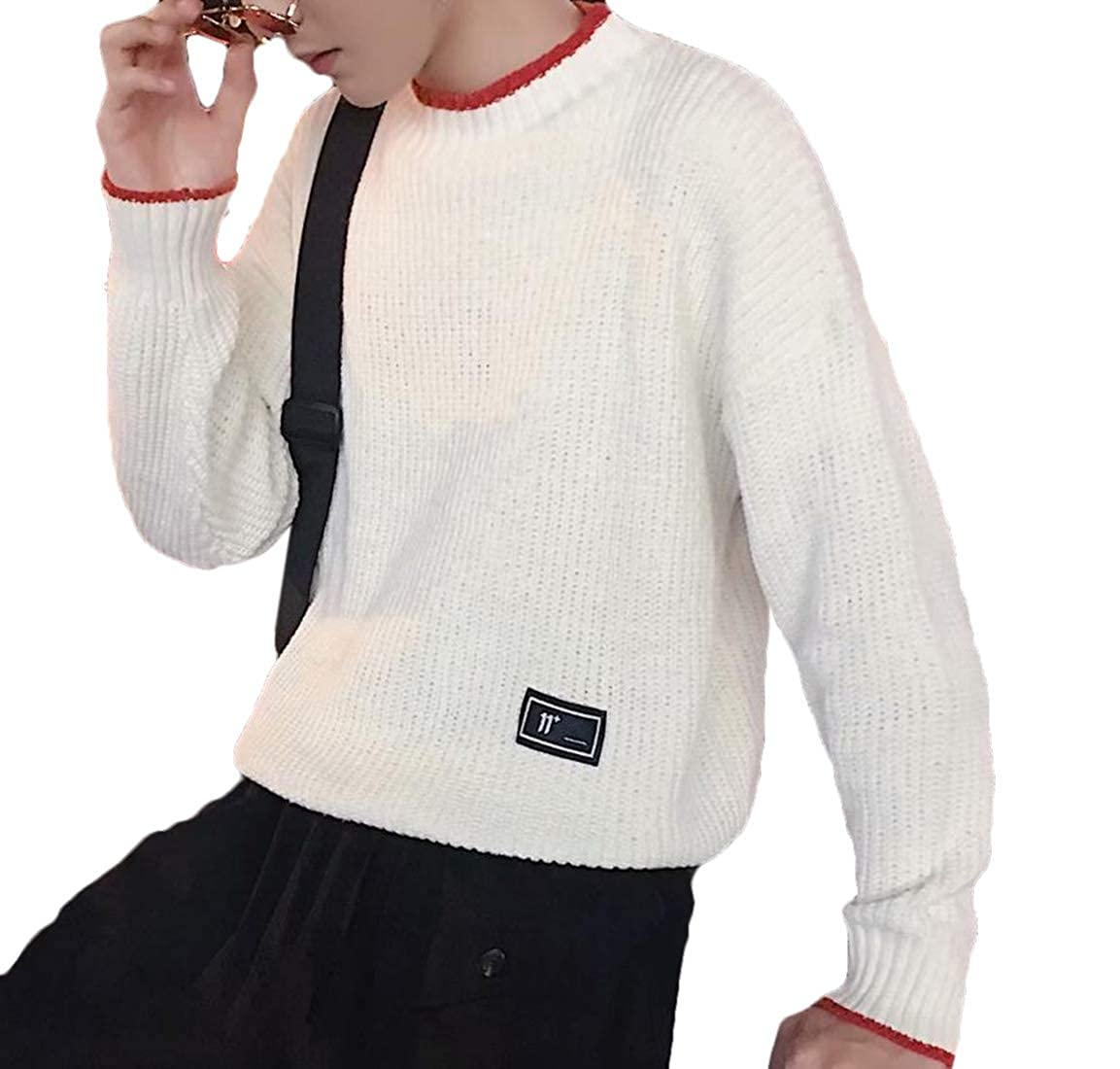 omniscient Mens Tops Casual Slim Fit Pullover Knitted Mock Neck Long Sleeve Sweaters