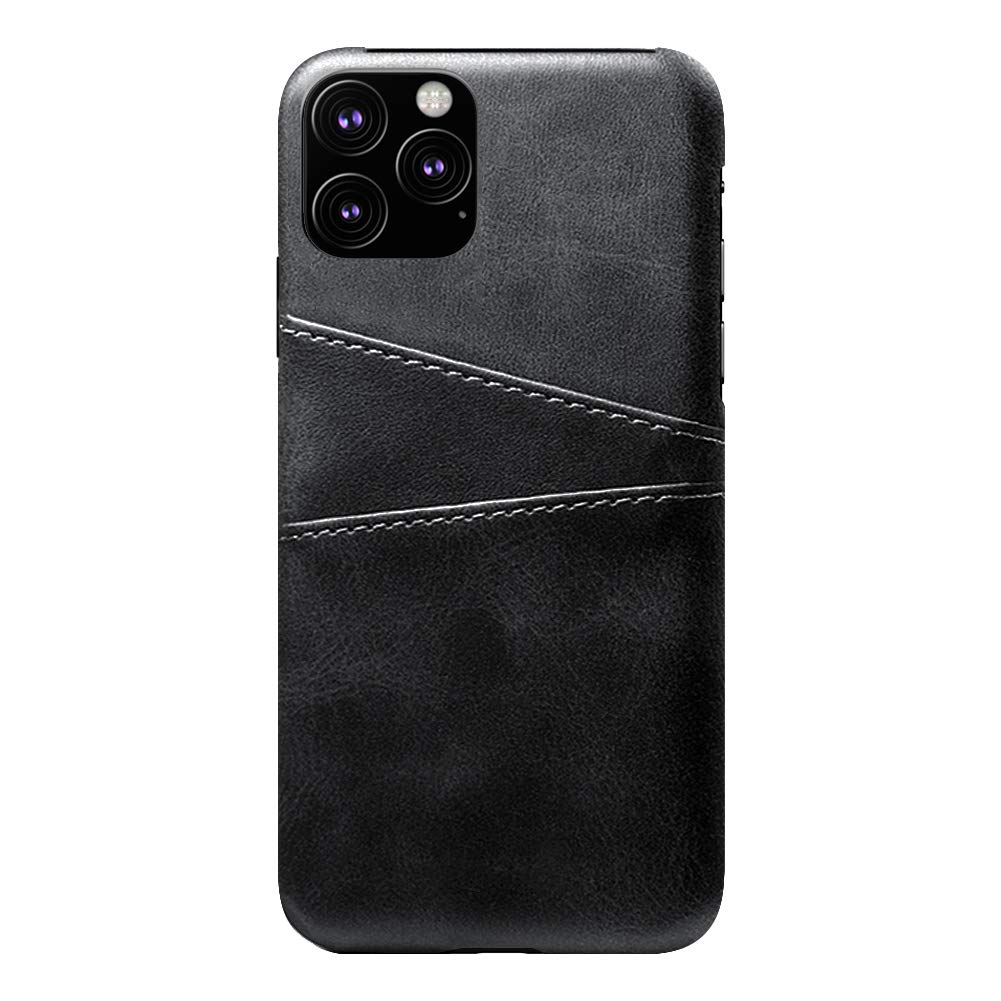 Elekpopu PU Leather Case for 2019 iPhone 11 Pro 5.8 with Credit Card Slots Wallet Holder (Black)
