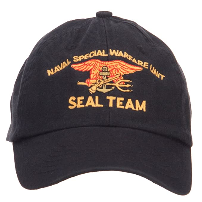 97883bbaf04 US Navy Seal Team Embroidered Low Profile Cap - Black OSFM  Amazon ...