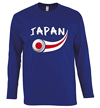 Supportershop – Camiseta Japón L/S para Hombre, Azul Royal, FR: S