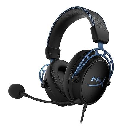 HyperX HX-HSCAS-BL/WW Cloud Alpha S – Casco para Gaming con Tarjeta de Sonido Envolvente Virtual 7.1 y Sonidos Graves (Bass) Ajustables