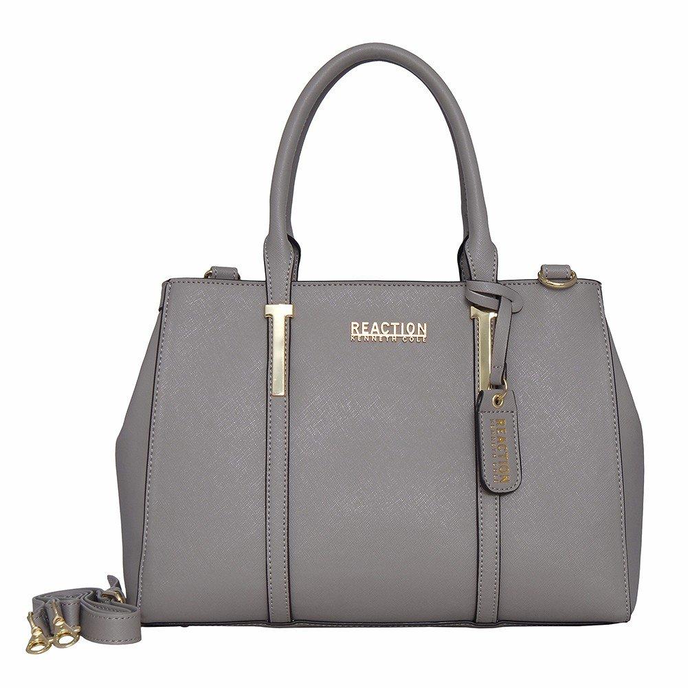 Kenneth Cole REACTION KN1860 Triple Entry Harriet Satchel Handbag (STONY BROOK)
