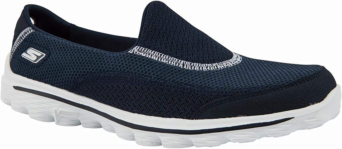 Skechers go Walk Damen Shoes Casual, Navy Blau, 2 Stück